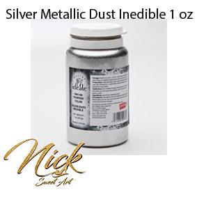 Silver Metallic Dust Inedible 1 oz