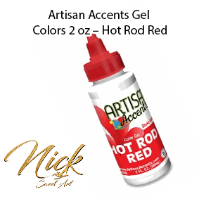 Artisan Accents Gel Colors 2 oz – Hot Rod Red