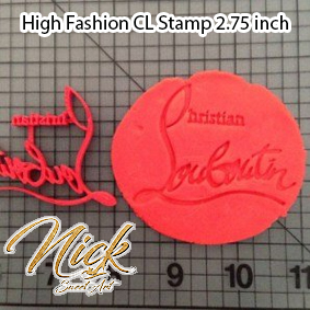 High Fashion CL Stamp 2.75 inch