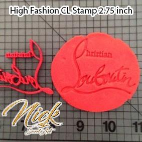 High Fashion CL Stamp 2.75 inch