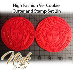 High Fashion Ver Cookie Cutter and Stamp Set 2in