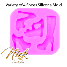 Variety of 4 Shoes Silicone Mold