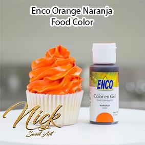 Enco Orange Naranja Food Color 2392 NO TASTE! NO BITTERNESS!