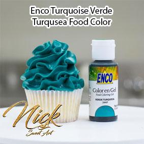 Enco Turquoise Verde Turqusea Food Color 2447 NO TASTE! NO BITTERNESS!